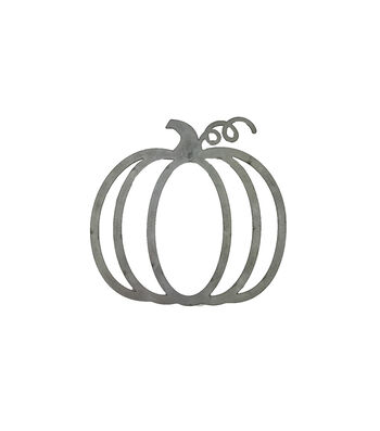 Simply Autumn Galvanized Metal Pumpkin