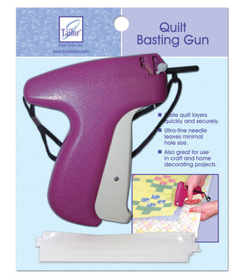 June Tailor Quilter's Basting Gun with 500 Fasteners