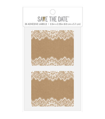 American Crafts Rustic Adhesive Labels-Rectangle