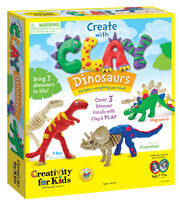 Creativity for Kids Create with Clay Dinosaurs Kit, , hi-res