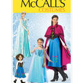 McCall\u0027s Pattern M7000-Winter Princess Dresses, and Cape with Collar and Capelet