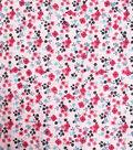 Cotton Shirting Fabric 57\u0027\u0027-Pink Small Floral