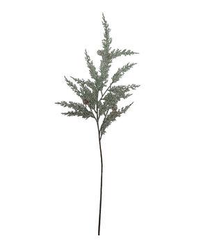 Handmade Holiday Christmas Snow Cypress Spray-Green