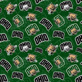 Ohio University Bobcats Cotton Fabric-Tone on Tone