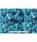 Anti-Pill Fleece Fabric 59\u0027\u0027-Peacock Feathers