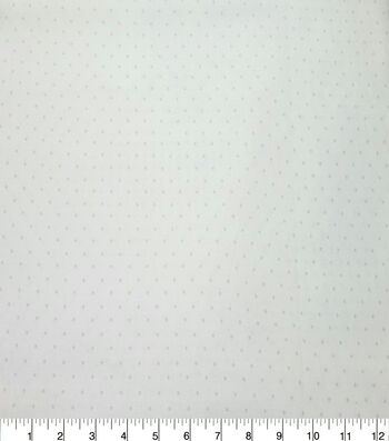 Quilter's Showcase Cotton Fabric -Light Gray Swiss Dots on White