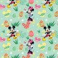 Disney Easter Mickey & Minnie Cotton Fabric-Eggs Hunt