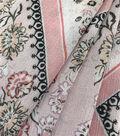 Silky Crinkle Rayon Fabric-Peach Scarf Print