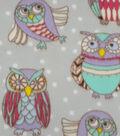 Anti-Pill Fleece Fabric 59\u0022-Pastel Sketched Owl