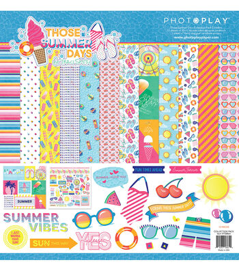 Photoplay Paper Those Summer Days 12''x12'' Collection Pack