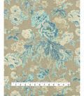 Waverly Upholstery Fabric 13x13\u0022 Swatch-Among the Roses Bluebell