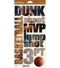 Pebbles Snapshot Stickers-Basketball