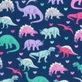Novelty Cotton Fabric -Girl Dinosaur
