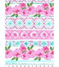 Nursery Flannel Fabric 42\u0027\u0027-Unicorn Floral & Aztec
