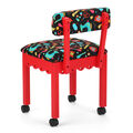 Arrow Sewing Chair Red With Black Sewing