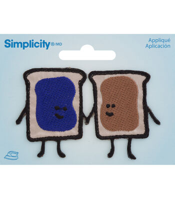 Simplicity Iron-On Applique-Breads Holding Hands with Butter & Jelly
