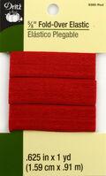 Dritz 5/8\u0022  Foldover Elastic Red 1Yd