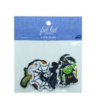 Fab Lab Wearables Halloween Iron-on Appliques Value Pack