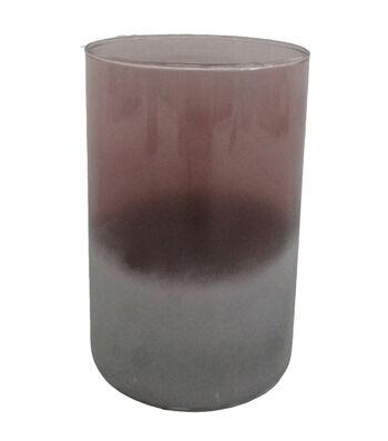 Blooming Autumn Large Glass Vase-Tonal Burgundy