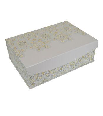 Organizing Essentials Medium Shallow Flip Top Box-Medallion