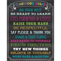 Teacher Created Resources Chalkboard Brights Classroom Rules Chart 6pk