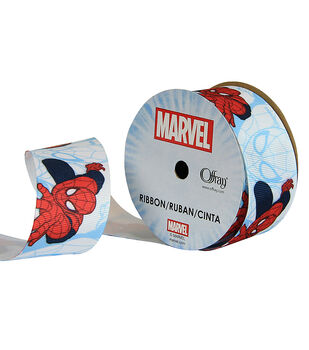 Offray Grosgrain Ribbon 1.5''x9'-Spider-Man Characters