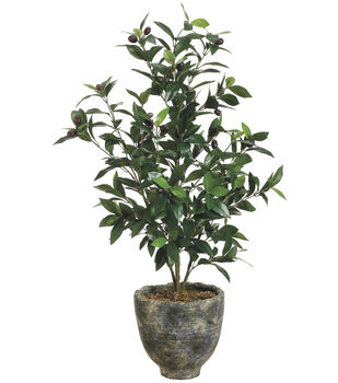 Olive Tree in Pot 36''-Two Tone Green