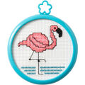 Bucilla/My 1st Stitch Mini Counted Cross Stitch Kit 3\u0022 Frame-Flamingo