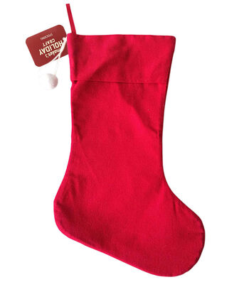 Maker's Holiday Craft Stocking-Red