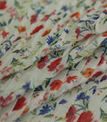 Sew Sweet Chiffon Fabric 57\u0027\u0027-Multicolored Floral Pleated