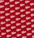 Indiana Hoosiers Cotton Fabric 44\u0027\u0027-Script on Red