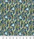Premium Prints Cotton Fabric 43\u0022-Cacti & Blue Birds