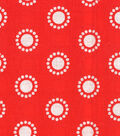 Quilter\u0027s Showcase Cotton Fabric-Circles Red/White