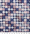 Novelty Cotton Fabric-Baseballs Patchwork