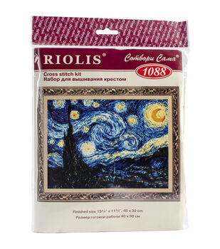 "Starry Night Counted Cross Stitch -15.75""X15.75"" 14 Count"