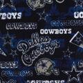 Dallas Cowboys Fleece Fabric -Retro
