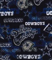 Dallas Cowboys Fleece Fabric -Retro, , hi-res