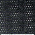 Pure Plush Fleece Fabric-Black with Gold Dots