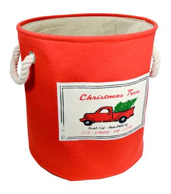 Christmas Small Soft Storage Bin-Christmas Trees & Car