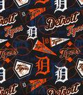 Detroit Tigers Cotton Fabric 58\u0022-Vintage
