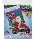 Design Works 18\u0027\u0027 Felt Stocking Applique Kit-Scooter Santa