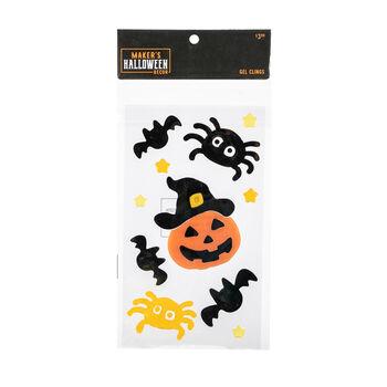 Maker's Halloween Decor Gel Clings-Spiders & Jack-o'-lantern