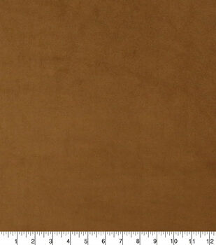 Faux Suede Stretch Fabric-Toffee