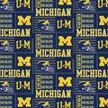 University of Michigan Wolverines Cotton Fabric -Patch Logo
