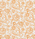 Keepsake Calico Cotton Fabric 43\u0022-Orange Floral Scroll