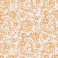 Keepsake Calico Cotton Fabric -Orange Floral Scroll
