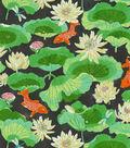 Waverly Print Fabric 54\u0022-Lotus Lake/Ebony