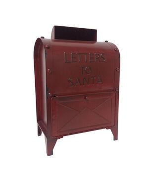 Handmade Holiday Christmas Mailbox-Red