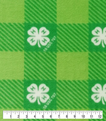 4-H Fleece Fabric-Plaid