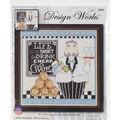 Design Works Crafts 10\u0027\u0027x10\u0027\u0027 Counted Cross Stitch Kit-Cheap Wine